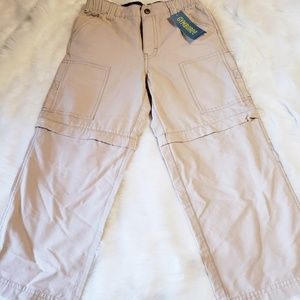 NWT Boys Gymboree Cargo Convertible pants size 6